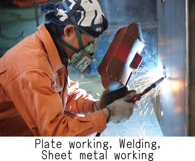 Plate working, welding, sheet metal working